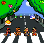 super mario Abbey Road